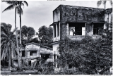 Pair of abandoned villas in Kep, Cambodia