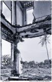 Interior of ruined villa in Kep, Cambodia