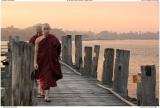 Monks on U-bien bridge