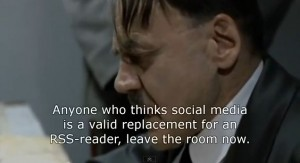 Hitler and Google reader