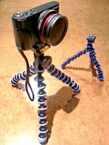 RX-100 with filters on GorillaPod small