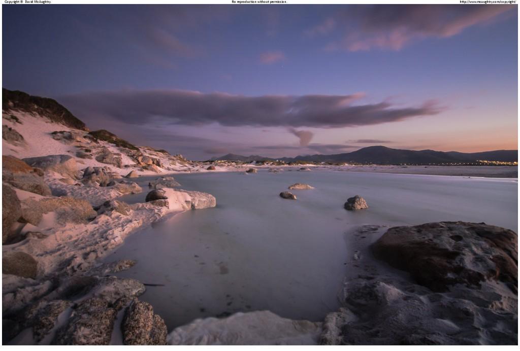 After dusk on Noordhoek Beach