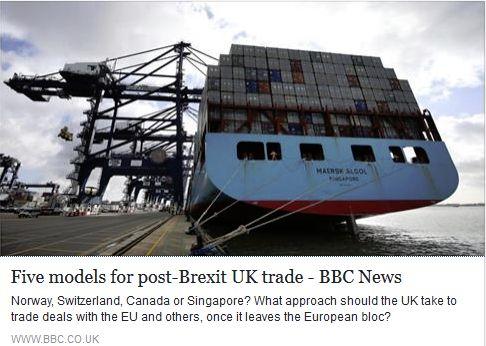 Brexit trade models