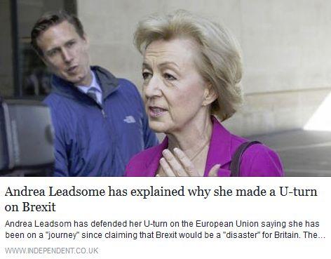 Leadsom u-turn