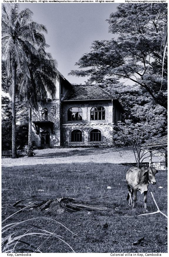 Colonial villa in Kep, Cambodia