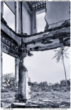 Interior of ruined villa in Kep, Cambodia