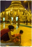 Mother and Child - Shwedagon Pagoda