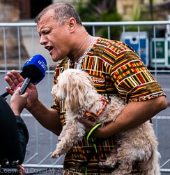 Dog gives interview